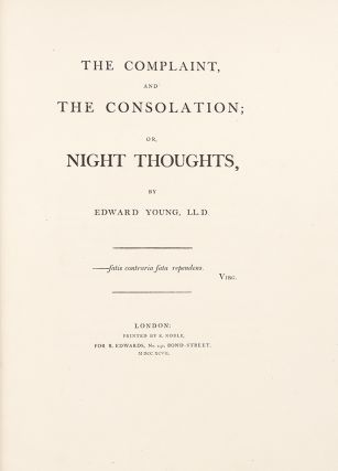 The Complaint, and the Consolation; or, Night Thoughts