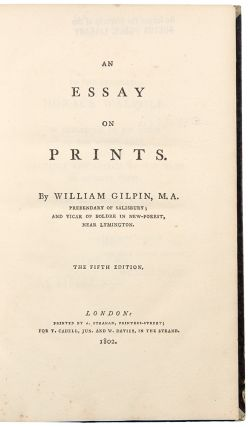 An Essay on Prints. William GILPIN