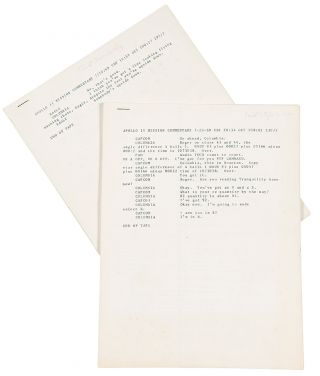 Apollo 11 Mission Commentary ... [mimeographed copies of a typescript of the radio transmissions...