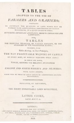 Tables adapted to the use of farmers and graziers ... also, tables for reducing measures, of...