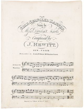 The Star Spangled Banner, Sung by Messrs. Darley & Nicholls, Composed by J. Hewitt