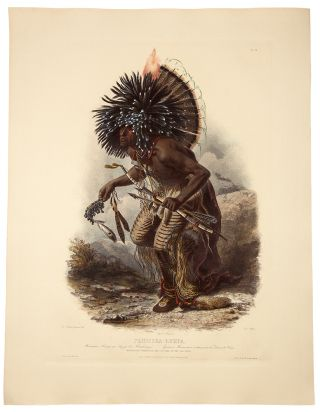 Péhriska-Rúhpa. Moennitarri Warrior in the Costume of the Dog Danse. Karl BODMER