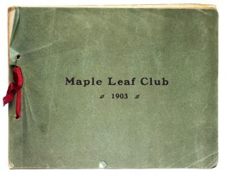 Maple Leaf Club 1903. CANADA -, Henry TALBOTT