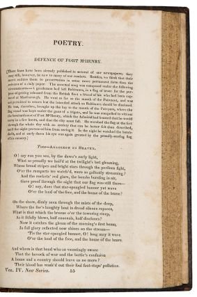 Defence of Fort M'Henry [i.e. the Star Spangled Banner, on p. 433-434 in The Analectic Magazine...