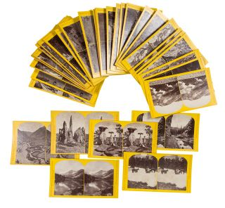 Group of stereoview photographs of Colorado on original U.S. Geological Survey mounts]. William...