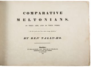 Comparative Meltonians, As They Are and As They Were ... by Ben Tally-Ho