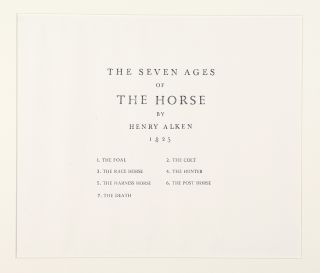 The Seven Ages of the Horse