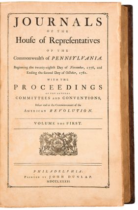 Journals of the House of Representatives of the Commonwealth of Pennsylvania Beginning the...