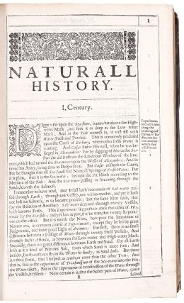 Sylva sylvarum: or, A natural history. In ten centuries. Whereunto is newly added the history...