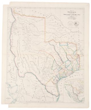 Map of Texas, compiled from Surveys recorded in the Land Office of Texas and other Official...