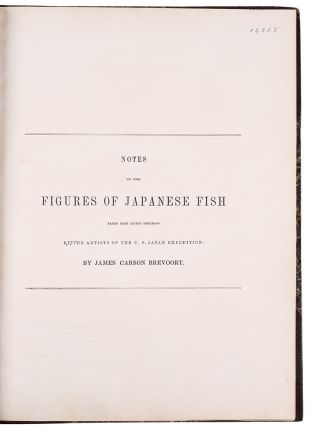 Notes on Some Figures of Japanese Fish taken from recent specimens by the artists of the U.S. Japan Expedition
