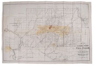 Map of the Allegany County Oil Field. J. A. SEYMOUR