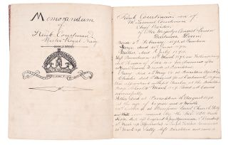 Manuscript journal of a voyage on the HMS Bonaventure, the Royal Navy flagship of the East Indies...