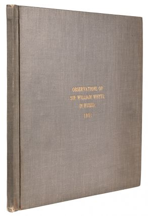 Contemporary typescript copies of two letters written by a Canadian railway executive to President of the Grand Trunk Railway T. G. Shaughnessy, recording in great detail a trip on the Trans-Siberian Railway and his impressions of the line and region