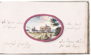 Late eighteenth century album amicorum kept by a Prussian physician or medical student. ALBUM...