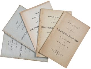 Group of Annual Reports from AT&T for the years 1901-1905]. AMERICAN TELEPHONE, TELEGRAPH COMPANY