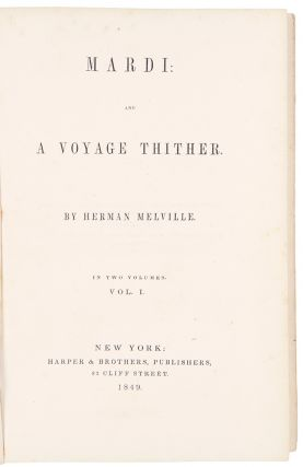 Mardi: and a Voyage Thither. Herman MELVILLE
