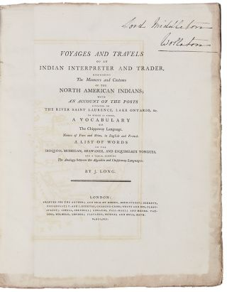 Voyages and Travels of an Indian Interpreter and Trader, describing the manners and customs of...