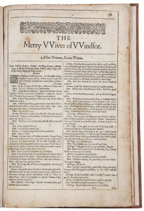 The Merry Wives of Windsor. William SHAKESPEARE