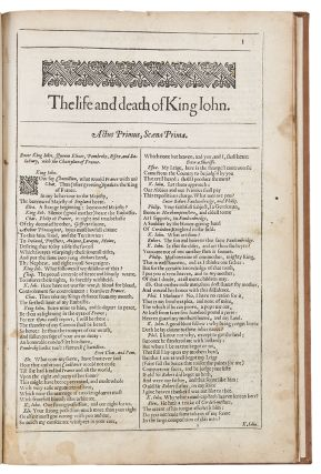 The Life and Death of King John. William SHAKESPEARE