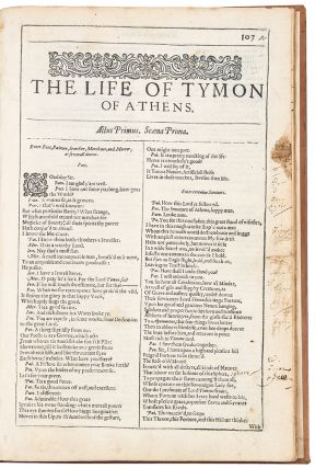 The Life of Tymon of Athens. William SHAKESPEARE