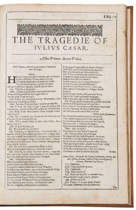 The Tragedie of Julius Caesar. William SHAKESPEARE