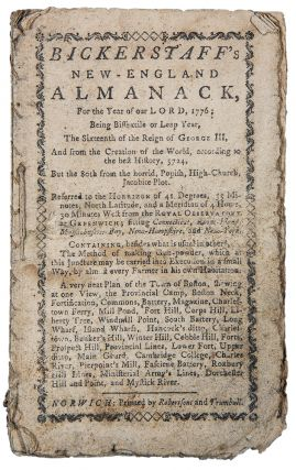 Bickerstaff's New-England Almanack, for the Year of Our Lord 1776 ... Containing, besides what is usual in others, The Method of Making Gun-powder, which at this juncture may be carried into Execution in a small way